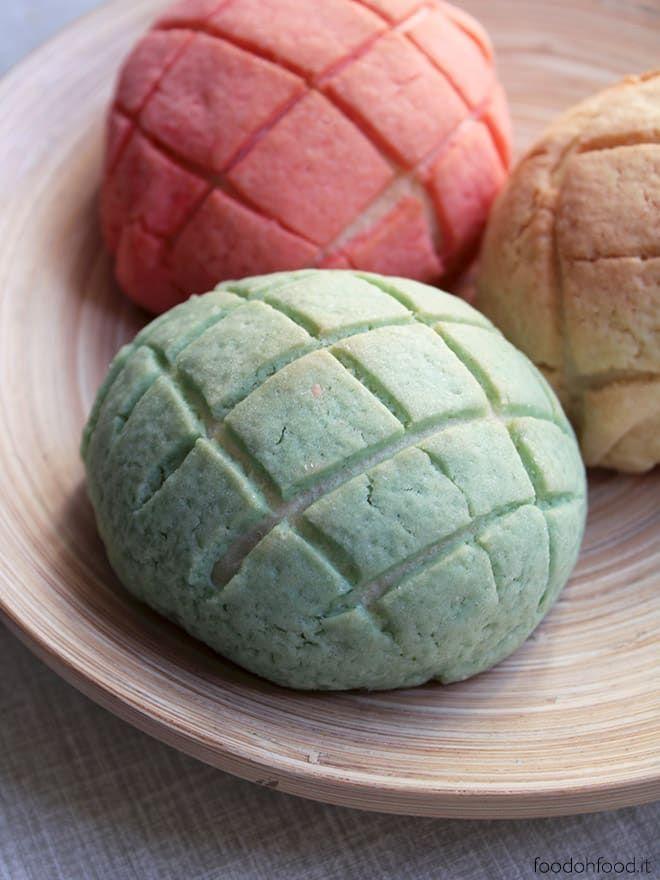 Melon Pan Ricetta Panini Dolci Giapponesi Ricoperti Di Frolla Recipe Sweet Buns Food Melon Pan Recipe