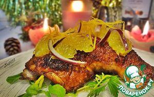 Праздничная курица с соусом айоли