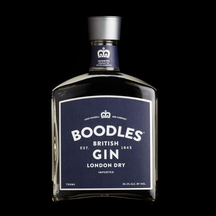 BOODLES GIN: Bold, simple and confident. (Packaging design by Stranger & Stranger)