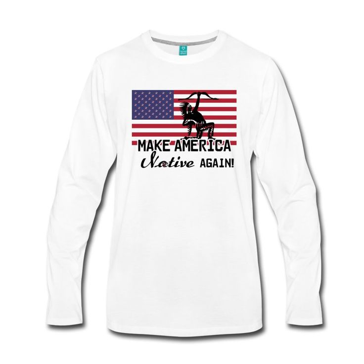 Coole Shirts und Geschenke für Indianer-Supporter: Make America Native again! #america #usa #flag #native #nativeamericans #amerika #indianer #fahne #flagge #nordamerika #ureinwohner #sprüche #shirts #geschenke #weihnachten