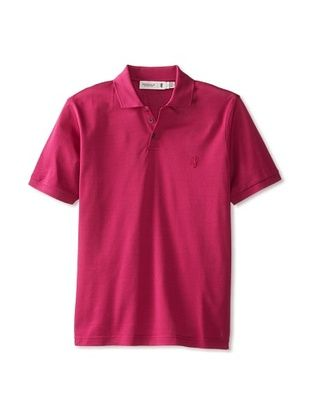 56% OFF Pringle of Scotland Men's Pique Polo (Fuchsia)