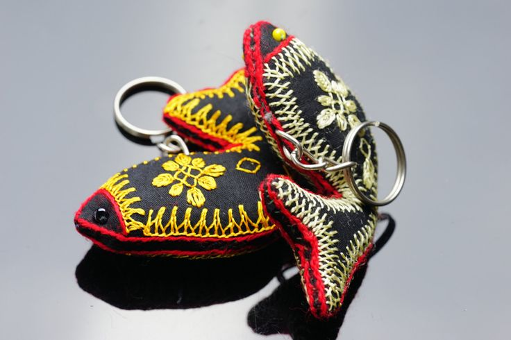 Colorful keychains,Cute key chain,Fish accessories,Tribal keychains,Handmade keychains,Fabric,keychains for women,Free shipping,Gift for her by ZsTribalTreasures on Etsy