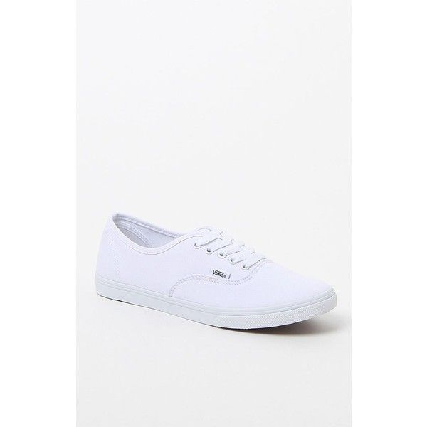 Vans Women's Authentic Lo Pro Canvas Sneakers ($50) ❤ liked on Polyvore featuring shoes, sneakers, lacing sneakers, waffle shoes, lace up sneakers, canvas trainers and canvas lace up sneakers