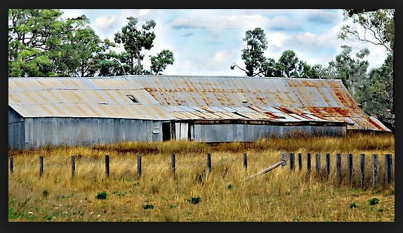 Shearing shed at Trinky Station, outback NSW, Australia. v@e.