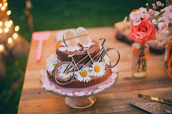 Tandem Bike Cake Topper von studiotomi auf Etsy
