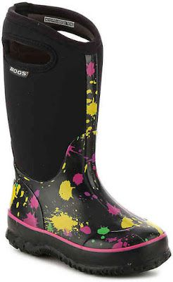 A kids boot that will keep their feet cozy through any nasty weather, the Paint Splat rain and snow boots from Bogs are winter ready!