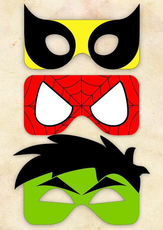 Superhero Mask Cut-Out 2 - Wolverine, Spiderman, Hulk - Choose One on Etsy, $3.09 AUD