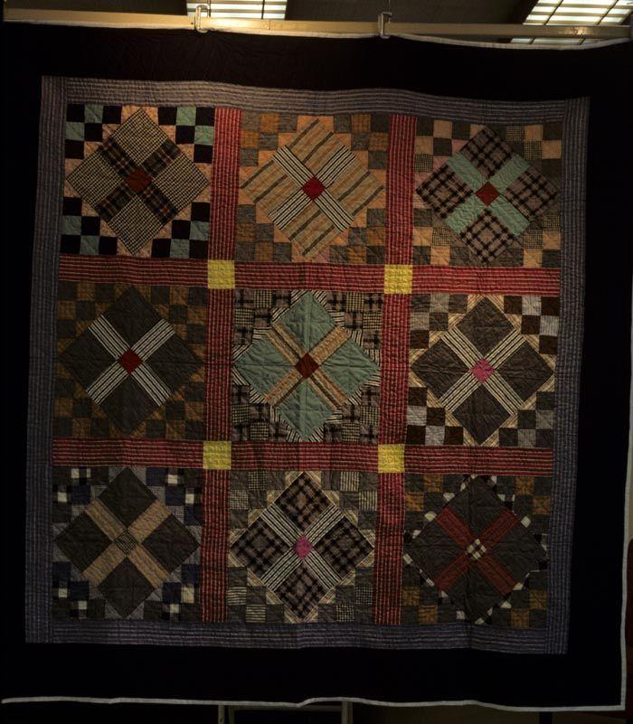 Cross of Temperance variation, circa 1938.Quilt Inspiration, Fabrics Quilt, Antiques Quilt, Variations Quilt, Dark Hues, Interesting Pattern, Dark Shades, Crosses, Dark Colors