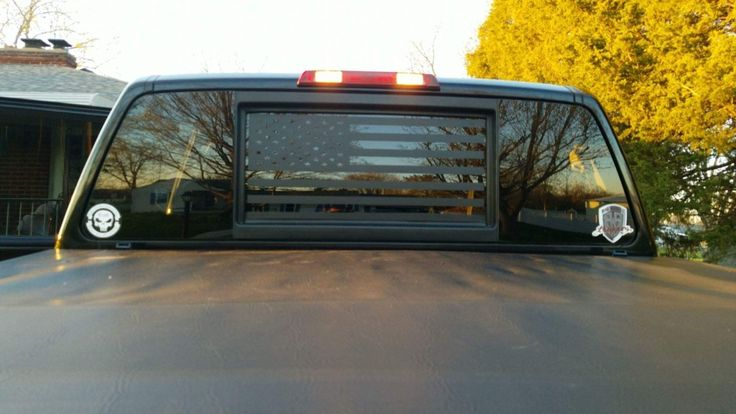 American Flag Back Window Decal   'Murica! – Stickit! Stickers & Decals