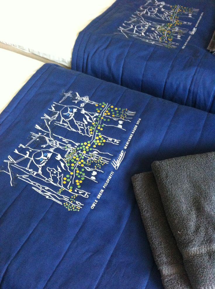 Bed Spread decor by Marianne Bauer for Urkin Piilopirtti.