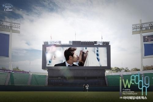 LG 서동욱-주민희 커플, '야구사랑' 웨딩사진과 함께 결혼 발표 - (주)아이웨딩네트웍스 - 플라자