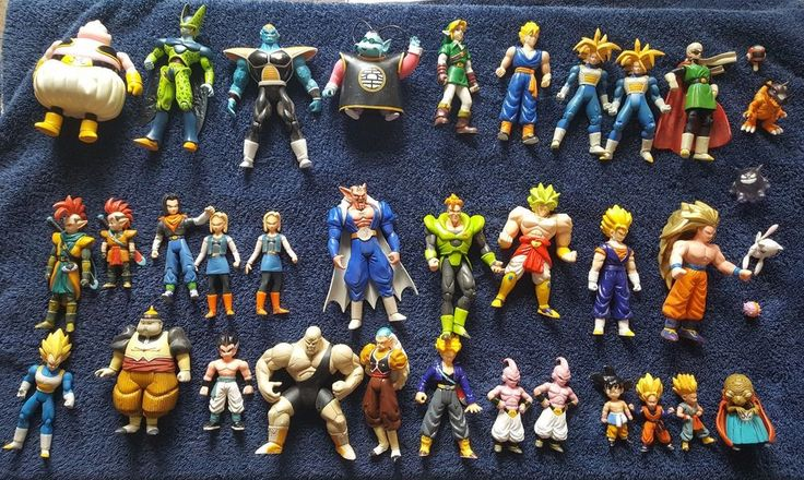 Dragonball Z Action Figures Lot 30+ DBZ Toys Late 1990s - Early 2000s