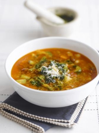 Enjoy this delicious pistou soup recipe online at Jamie Oliver, based on traditional Provencal flavours this soup is a hearty and warming family meal.