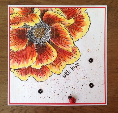 Zoeblingcards: Indigoblu Giant Poppy