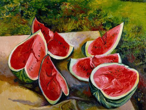 Renato Guttuso, Watermelons, 1986
