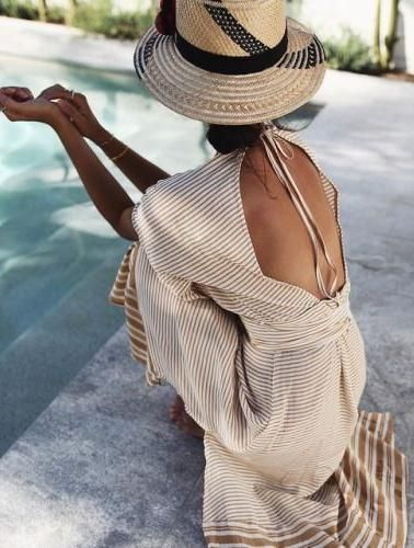 Supernatural Style | https://pinterest.com/SnatualStyle/  open back maxi dress. summer style.