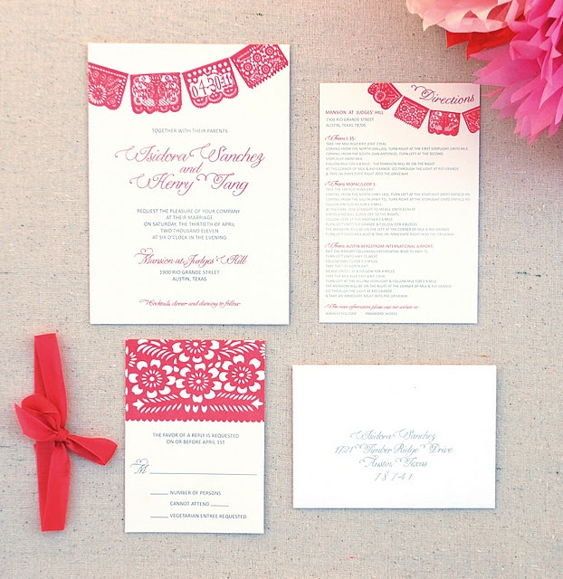 Papel Picado Wedding Invitation- www.invitingaffairs.com