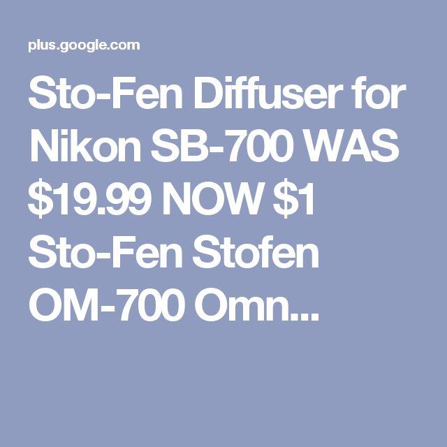 Sto-Fen Diffuser for Nikon SB-700 WAS $19.99 NOW $1 Sto-Fen Stofen OM-700 Omn...