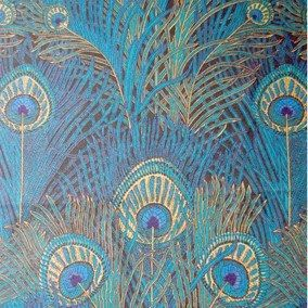 """Liberty of London created the exotic """"peacock feather"""" fabric in 1887"""