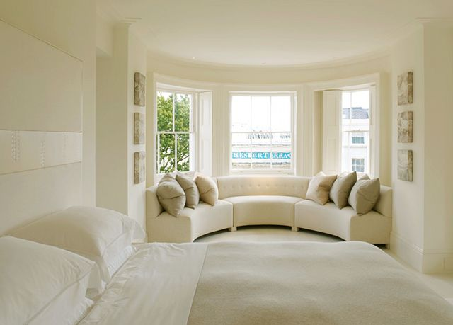 bedroom with sitting area designs gorgeous bed board and sitting area perfect if you love a calm space masterbedroom pinterest window pictures - Bedroom Sofa Ideas
