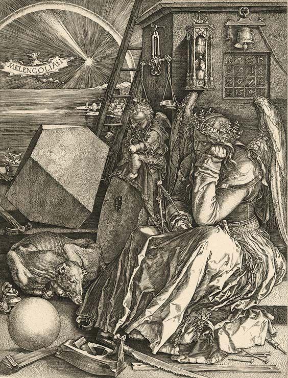 """""""Melencolia I."""", Kupferstich von Albrecht Dürer"""