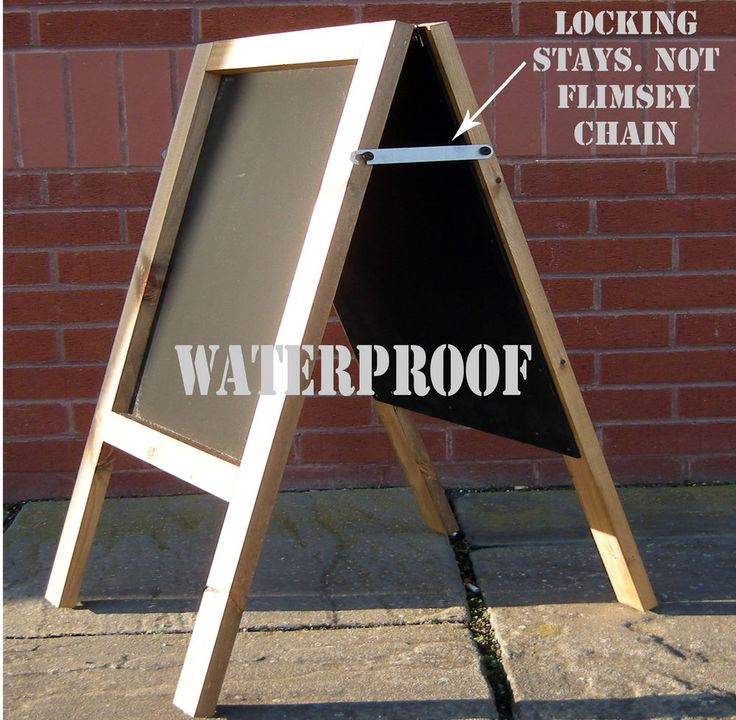 SUPER VALUE WOODEN A BOARD- SANDWICH BOARD- PAVEMENT  BOARD - A BOARD  -(LC)