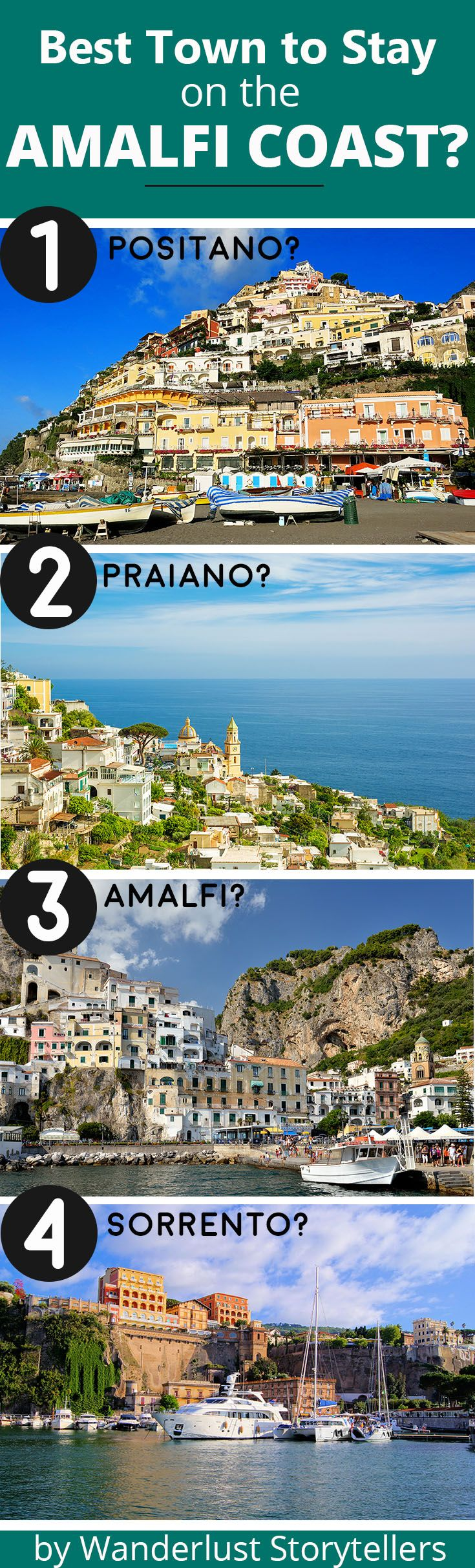 Wondering which is the best town to stay at on the Amalfi Coast?
