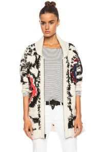 Isabel Marant Etoile Serra arty wool blend knit in white