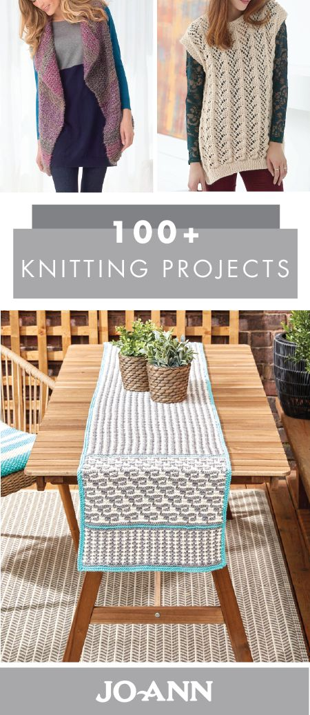 Get crafty as the seasons change from summer into fall by making your very own handmade decorations and accessories! This collection of 100+ Knitting Projects from Jo-Ann is a great resource to start with when you're looking to put your knitting skills to use in new project ideas.