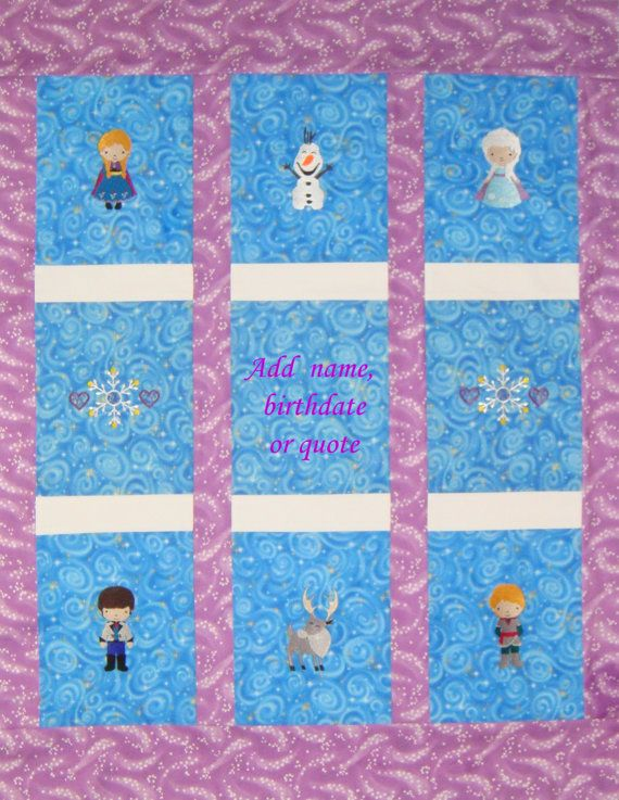 Embroidered Frozen Inspired Quilt Personalized by NEFSewSuite NEF SewSuite Pinterest ...