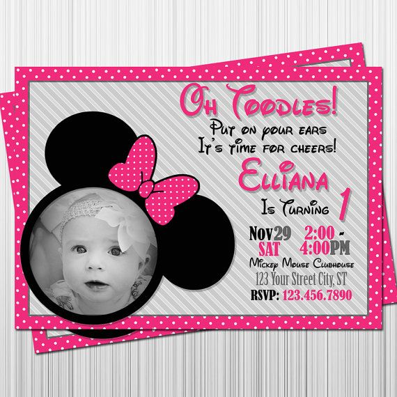Minnie Mouse Birthday Invitation Minnie Mouse by EandEmEditions