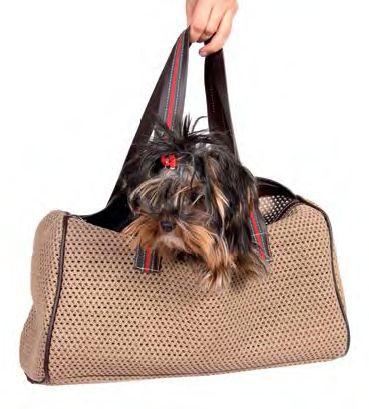 Bolso para transportar a tu perro.  Hay de 2 colores:  Negro con leopardo Marrón