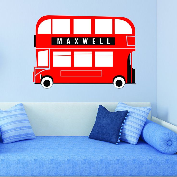 Brilliant Boys Room #decal   Bus With Name Personalised Wall Sticker U2013 Vu0026C  Designs Ltd Part 97