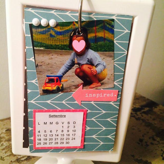 La Tana Di Topilde - Calendario cornice Ikea - Calendar Ikea frame - Scrapbooking