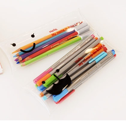 Jstory Mr.BABBA Miss LALLA Clear Pencil case holder, (http://www.fallindesign.com/jstory-mr-babba-miss-lalla-clear-pencil-case-holder/)