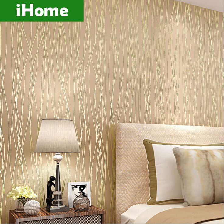 Barato stripe moderno papel de parede 3d parede plantas for Papel para decorar paredes modernos