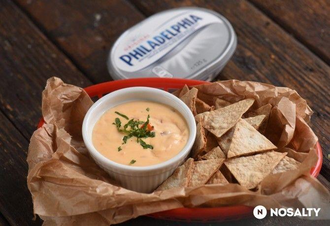 NOSALTY:   Sajtszósz házi tortilla chipsszel