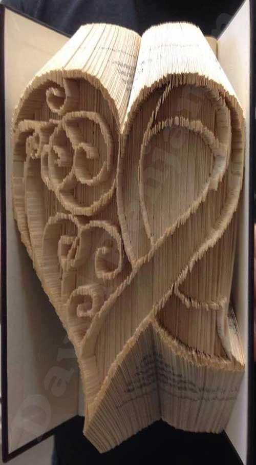 Combi cut and fold Awareness Ribbon Heart