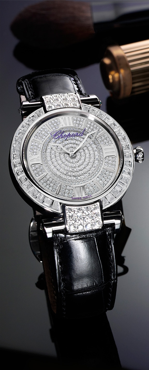 Chopard ~ A luminous dispaly of style and elegance, IMPERIALE watch in 18-carat white gold and diamonds