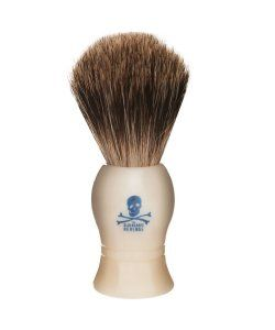 Bluebeard Revenge Bluebeard Badger Shaving Brush Pure badger hair shaving brushA good solid brush to whip up a great lather and exfoliate you skin.The faux ivory handle carries the cool distinctive Bluebeards Revenge logoHandmade in England http://www.MightGet.com/march-2017-1/bluebeard-revenge-bluebeard-badger-shaving-brush.asp