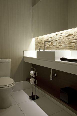 Como decorar com iluminação embutida – Banheiro