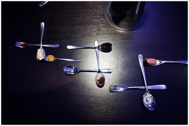 Dinner at *** 3 Michelin Star ALINEA in Chicago. 11th Course: Squab – Inspired by Miró