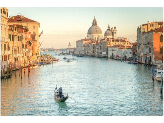 cuadro Venecia, Gran Canal con gondola, impresion digital sobre lienzo de 3 cm grosor