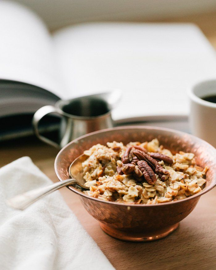 Such a gorgeous oatmeal photo --> The Best Toasted Oatmeal | A Couple Cooks