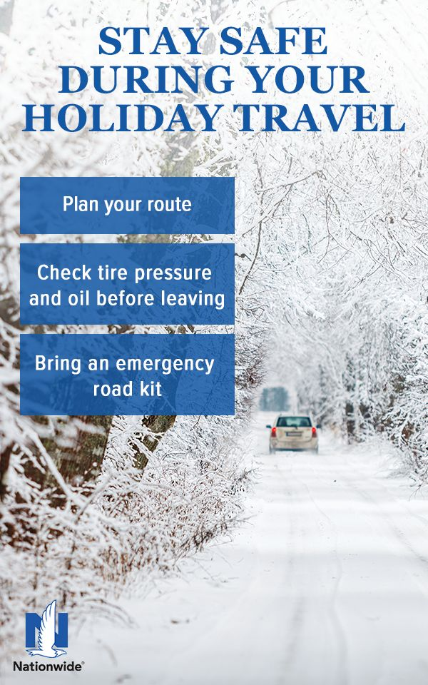 Road trips are an easy escape – especially during the holiday! But great planning is essential to help make a road trip stress-free, safe and successful. This includes considering factors such as road conditions, traffic and weather. Mishaps can happen, but the following tips from Nationwide may help make your next trip more enjoyable.