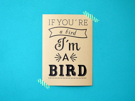 The notebook movie quote print - if you're a bird I'm a bird - Ryan Gosling by invisiblecrown, €3.95