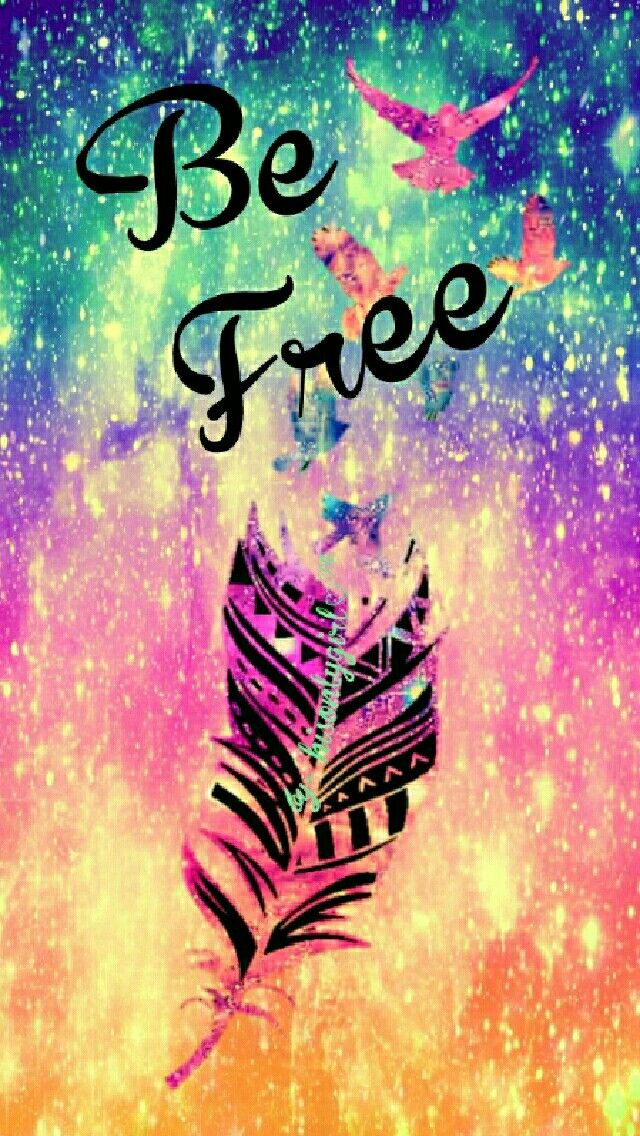 Be free galaxy wallpaper I created for the app CocoPPa.