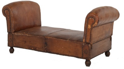 1000 images about antique new chaise lounges on for Antique leather chaise