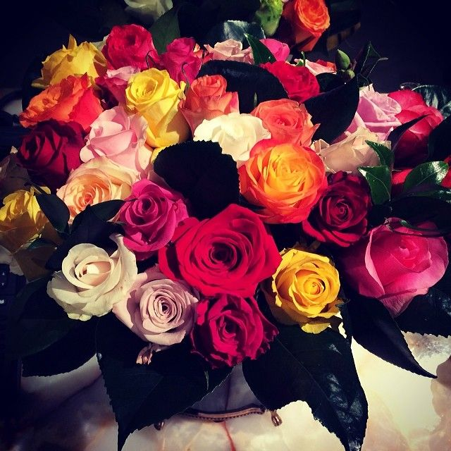 Rainbow Roses from Le Meurice!!