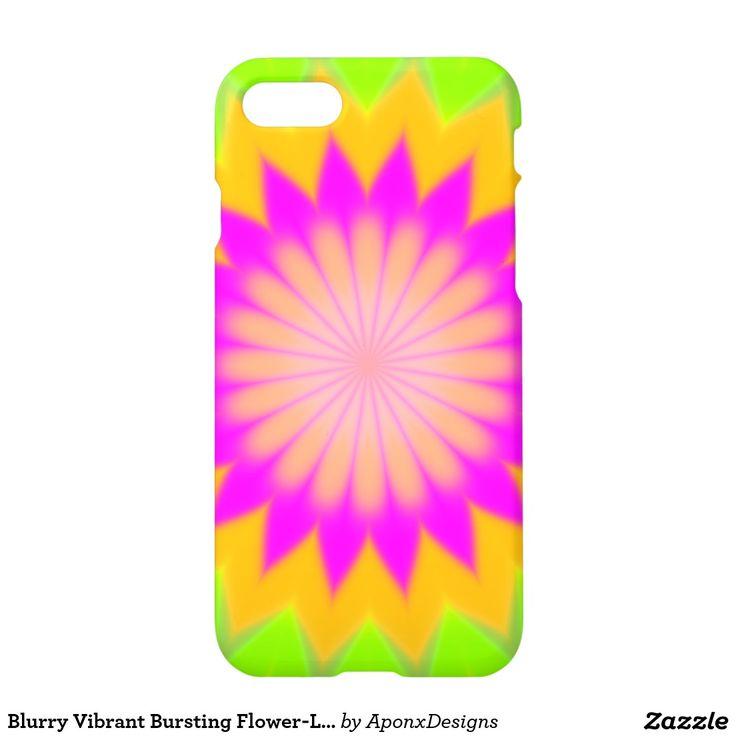 Blurry Vibrant Bursting Flower-Like Pattern